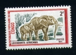 Stamps Africa - Republic of the Congo -  Elefante africano