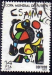 Stamps Europe - Spain -  ESPAÑA 1982 2644 Sello Copa Mundial de Futbol ESPAÑA'82 Cartel Joan Miro Usado Yvert2272 Scott2280