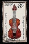 Stamps Germany -  Museo instrumentos musicales de Leipzig - Zanfona