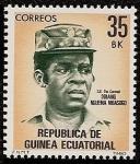 Stamps Equatorial Guinea -  S. E. Tte. Coronel Obiang Nguema Mbasogo