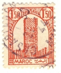 Stamps Morocco -  torre