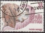 Stamps Spain -  ESPAÑA 1983 2714 Sello Perros de Raza Española Pachon Navarro Usado Yvert2331 Scott2337