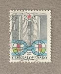 Stamps Czechoslovakia -  Edificio del COMECOM en Moscú
