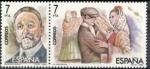 Stamps Spain -  ESPAÑA 1984 2764/5 Sellos Nuevos Maestros de la Zarzuela Escena La Revoltosa Ruperto Chapi Yvert2379