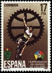 Stamps Spain -  ESPAÑA 1984 2772 Sello Nuevo Campeónato del Mundo Ciclismo Cartel anunciador Yvert2388 Scott2389