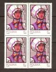 Stamps Poland -  SOMBREROS  TRADICIONALES