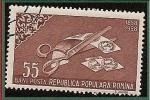 Sellos de Europa - Rumania -  Centenario del sello - Moldavia - corte de sellos