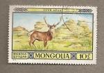 Stamps Mongolia -  Ciervo