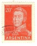 Stamps Argentina -  Gral Jose de San Martin