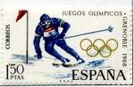 Sellos de Europa - España -  Juegos de  Invierno Grenoble '68