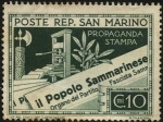 Stamps San Marino -  il Popolo Sammarinese, órgano de propaganda del partido fascista.