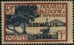 Stamps New Caledonia -  Nueva caledonia, archipiélago de Oceanía. Embarcación en la punta de los manglares. 1928 1 centavo.