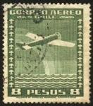 Sellos de America - Chile -  Aeroplano y el arcoíris.
