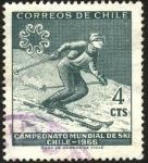 Sellos de America - Chile -  Campeonato mundial de SKI en Chile año 1966.