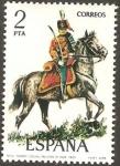 Stamps of the world : Spain :  2452 - Uniforme Militar de Teniente Coronel de Húsares de Pavía