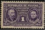 Stamps America - Panama -  Tasa obligatoria lucha contra el cáncer. María y Pedro Curie.