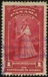 Stamps Panama -  Mujer con indumentaria campesina.