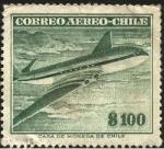 Sellos de America - Chile -  El 'COMET' primer avión comercial a reacción de origen inglés.