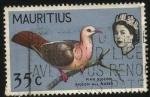 Stamps Africa - Mauritius -  Paloma rosada o paloma de las charcas. Reina Elizabeth II.