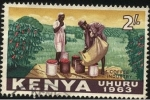 Stamps Africa - Kenya -  Industria del café de KENIA. Año de la independencia 1963. Uhuro 'libertad'.
