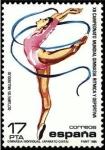 Stamps Spain -  ESPAÑA 1985 2811 Sello Nuevo XII Campeonato Mundial de Gimnasia Ritmica Ejercicio Cintas Scott2450