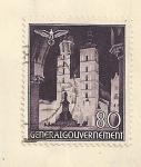 Sellos de Europa - Polonia -  Torre de la iglesia de Nuestra Señora de Cracovia