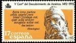 Stamps Spain -  ESPAÑA 1986 2862 Sello Nuevo V Cent. Descubrimiento de America San Isidoro (560-636) Yvert2480