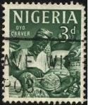 Stamps Africa - Nigeria -  Oyo Carver. Artesano.