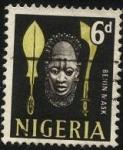 Stamps Africa - Nigeria -  Máscara de la reina Idia, Reino de Benin, Nigeria.