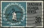 Sellos de Africa - Tanzania -  Juegos del Imperio Británico y de la Mancomunidad realizados en Jamaica en 1966.