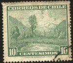 Stamps Chile -  Volcán CHOSHUENCO.
