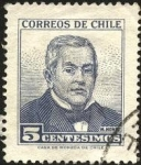 Stamps America - Chile -  Presidente Manuel Montt Torres.