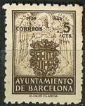Stamps Spain -  Escudo nacional y de la ciudad