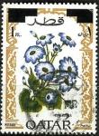 Stamps Asia - Qatar -  Cineraria