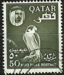 Stamps Asia - Qatar -  Halcon