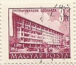 Stamps Hungary -  ÉPITOMUNKÁSOK SZÉKHÁZA