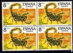 Stamps Spain -  Fauna: Escorpion