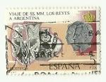 Stamps : Europe : Spain :  Viaje de los Reyes a Argentina