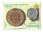 Stamps : Europe : Spain :  Viaje de SSMM los Reyes a Méjico