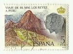 Stamps : Europe : Spain :  Viaje de SSMM a Perú