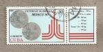 Stamps Cuba -  Juegos olimpicos Moscú 1980 Medallas de Plata