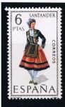 Stamps Spain -  Trajes típicos  Santander