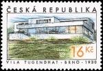 Stamps Czech Republic -  Villa de Tugendhat (Brno)