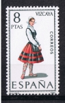 Stamps Europe - Spain -  Trajes típicos  Vizcaya