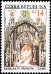 Stamps Europe - Czech Republic -  Barrio judío,Basilica de Prokopa (Trébic)