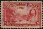 Sellos del Mundo : America : Nicaragua : Managua en llamas año 1931. Homenaje de Nicaragua a WILL ROGERS  cowboy, humorista, actor comentaris