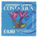 Stamps America - Costa Rica -  Primera exposicion de orquideas Epidendrum mirabile