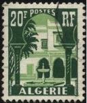 Stamps Algeria -  Patio del Museo del Bardo en Argel.