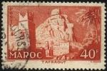 Stamps Morocco -  Pequeña villa de TAFRAOUT en la montaña del l'Anti-Atlas.