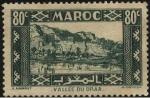 Sellos de Africa - Marruecos -  Río y valle del DRAA en Ouarzazate Marruecos.